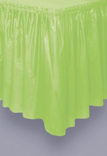 Plastik Tischrock Hellgrün
