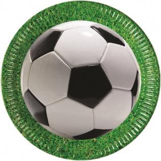 36 Teile Fußball Party Deko Set Stadionrasen 8 Personen - Vorschau 2