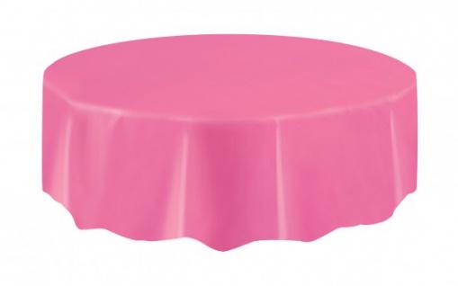 Plastik Tischdecke Rund helles Pink