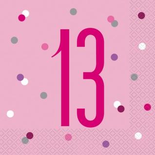 32 Teile 13. Geburtstag Pink Dots Party Set 8 Personen - Vorschau 4