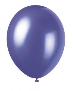 8 Luftballons Violett Metallic