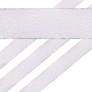 Glitzerndes Geschenkband in Weiß 4 cm breit 2 Meter lang