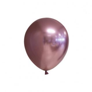 100 glänzende Luftballons in Rose Gold Metallic mit Schimmer 13cm