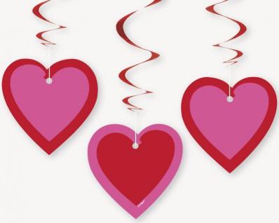 3 hängende Herzchen Girlanden
