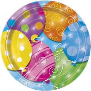 8 Teller kunterbunte Ballon Party