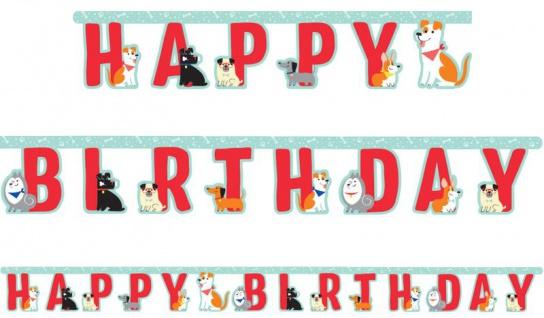 Geburtstags Girlande Hunde Party