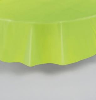 Runde Plastik Tischdecke Hellgrün - Vorschau 2