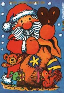 Fensterbild Weihnachtsmann