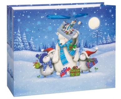 Weihnachts Geschenk Tüte Eisbär und Küken