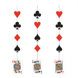 3 hängende Girlanden Poker Party
