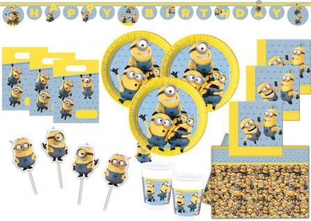 XXL+ Minions Party Deko Set für 16 Kinder
