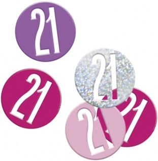 Deko Konfetti Pink Dots Glitzer zum 21. Geburtstag