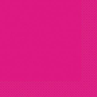 20 Servietten Neon Pink