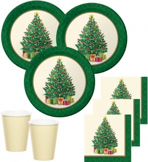 32 Teile Weihnachts oder Advents Deko Set perfekter Weihnachtsbaum für 8 Personen