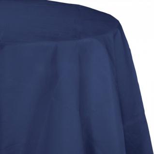 Runde Papier Tischdecke Marine Blau