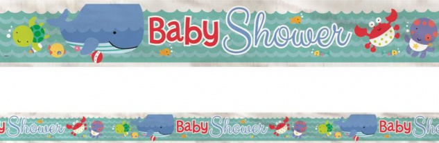 Folien Banner zur Babyparty Meeresfreunde