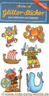 Wikinger Glitter Sticker