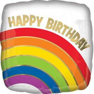 Geburtstags Folien Ballon Regenbogen