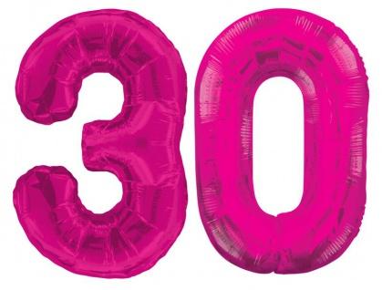 XXL Mega 73 Teile zum 30. Geburtstag Party Set in Pink für 16 Personen - Vorschau 2