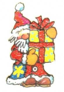 Weihnachtsmann mit Geschenk Mini Sticker - ItSticks