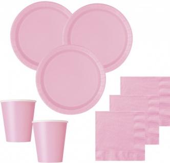 36 Teile Party Deko Set Baby Rosa für 8 Personen - Vorschau 1