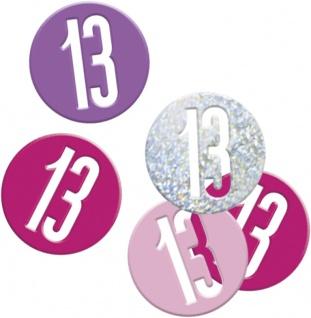 Deko Konfetti Pink Dots Glitzer zum 13. Geburtstag