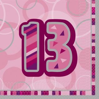 48 Teile zum 13. Geburtstag Party Set in Pink für 16 Personen - Vorschau 2