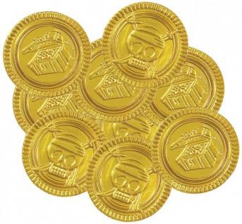 30 Goldmünzen mit Schatztruhe und Totenkopf