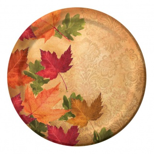8 Teller eleganter Herbst