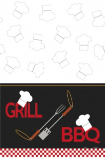 Tischdecke Grill Party BBQ Chef