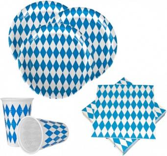 XXL 48 Teile Bavaria Party Deko Set Oktoberfest für 10 Personen - Vorschau 2