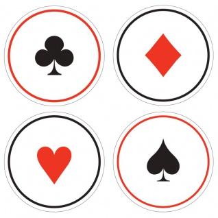 6 Untersetzer Poker Party