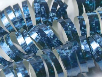Holo Glitzer Luftschlangen Hellblau