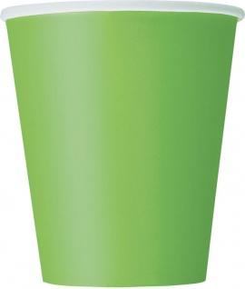 14 Papp Becher Hellgrün
