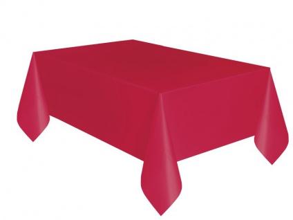 Plastik Tischdecke Rot
