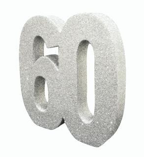 Deko Glitzer Zahl 60 Geburtstag Silber Kaufen Bei Kids Party World
