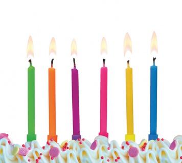 6 Kuchen Kerzen Bunter Mix