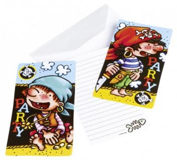 6 Piraaaten Einladungskarten - Vorschau 1