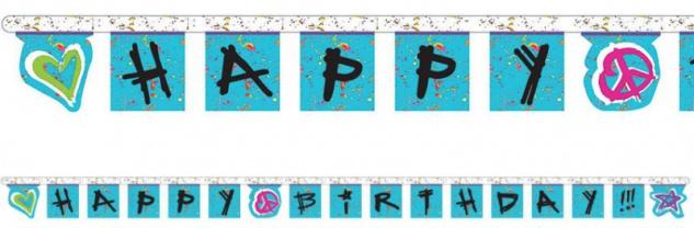 Geburtstags Girlande Rock it Mädels