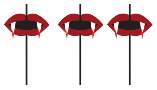 6 Vampir Trinkhalme