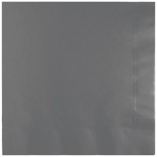 50 Servietten Grau 3-lagig