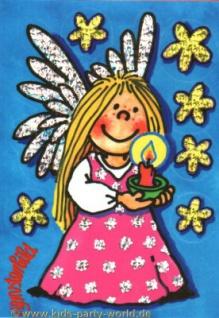 Fensterbild Postkarte Engel