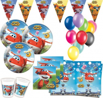 XL 48 Teile Super Wings Party Deko Set 8 Kinder