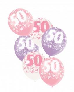 50. Geburtstag Party Set - 75 Teile für 8 Personen Pink - Vorschau 5