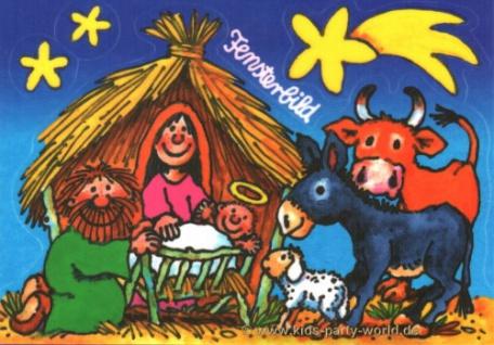 Fensterbild Postkarte Krippe - Vorschau 1