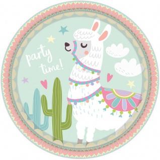 8 Papp Teller Lama Party