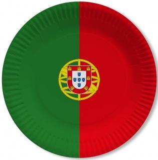 10 Papp Teller Portugal Party Deko