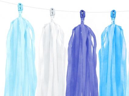 Do it yourself Quasten Girlande Hellblau Weiß Blau - Vorschau 2
