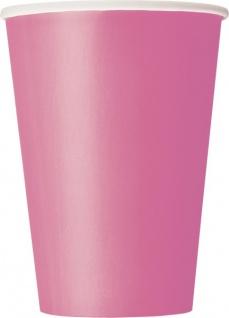 10 große Papp Becher helles Pink - Vorschau