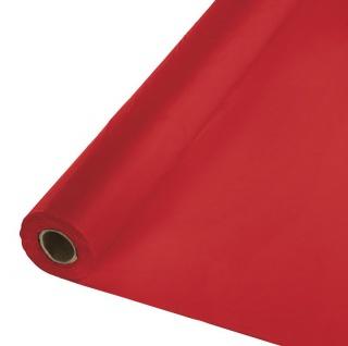 30 Meter Rolle Plastik Tischdecke Klassisch Rot